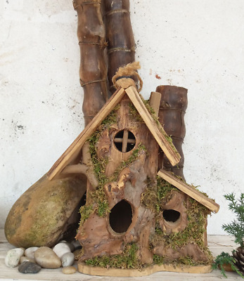 Hand Made Wooden Bird Cage House Vintage