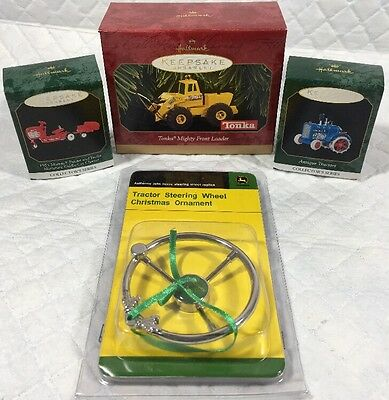 LOT OF 4 Tractor Ornaments
