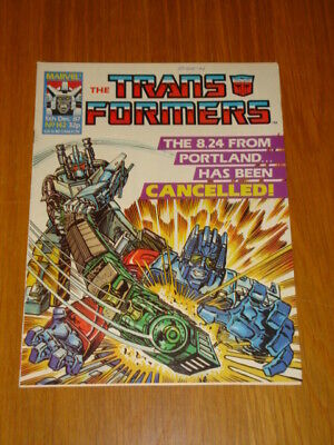 Transformers British Weekly #142 Marvel Uk Comic 1987