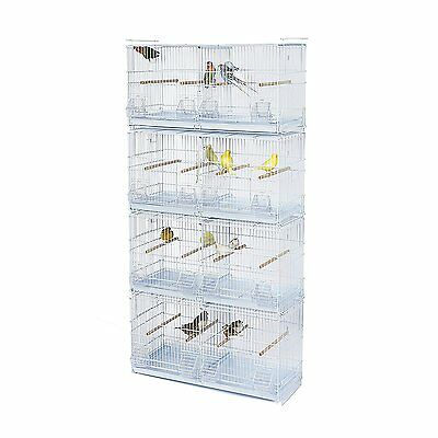 Kookaburra Walnut Double Wire Breeding Cages x4 - For Cockatiels, Budgie, Canary
