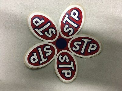 STP Promotional Flower Sticker circa 1970 (lot of 5)