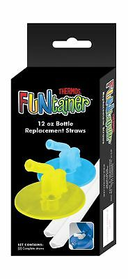 Thermos Replacement Straws for 12 Ounce Funtainer Bottle Lime/Blue