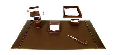 Dacasso Rustic Brown Leather Desk Set 7-Piece