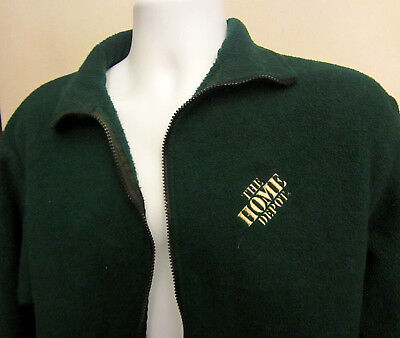 Vintage Home Depot Green Fleece Employee Jacket Mens's Medium.........c
