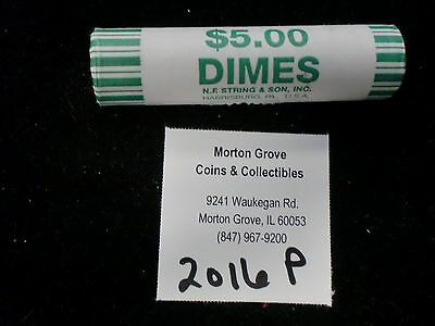 2016 P Bu Roosevelt Dime Bank Wrapped Roll  Ships For Free In The Usa