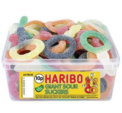 Haribo Giant sour suckers Jelly Gums Sweets Weight 50g 250g 500g 1kg Bags