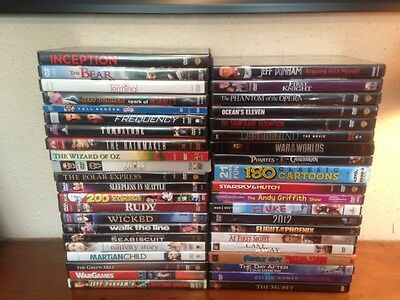 Wholesale Lot of 42 Assorted Used and New DVDs - Movies - As Pictured