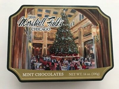 Marshall Field's Frango Mints Tin-Under the Christmas Tree 2016 -Used-Excellent