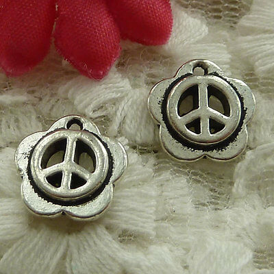 free ship 360 pieces Antique silver peace symbol charms 17x14mm #3493