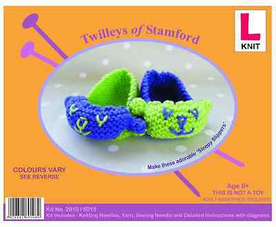 Twilleys of Stamford Learn to knit Sleepy Slippers Knitting kit