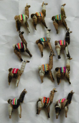 New Made In Peru Brand New Mix Brown Alpaca Pins or Brooches One Lot of 12 Pins