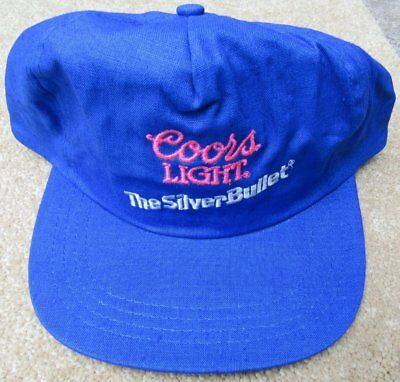 Vintage Coors Light Beer Silver Bullet Trucker Baseball Hat NEW Old Stock Cap
