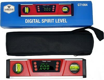 Gummerson Bright LED Digital Spirit Level Inclinometer 254mm | IP54 rated