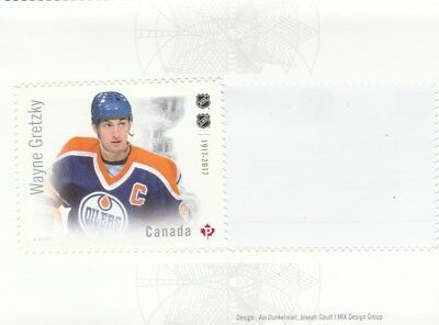 2017 Canadian Hockey Nhl - Canada Post Stamp From Booklet -  Wayne Gretzky