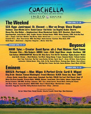 Coachella Music Festival 2018 GA Ticket/Wristband with CAR CAMPING - Weekend 2