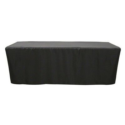8' ft. Fitted Polyester Tablecloth Table Cover Wedding Banquet Party Black