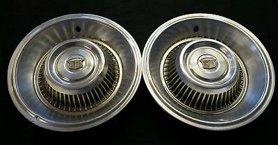 """1963 1964 Cadillac DeVille 15"""" 15 Inch Hubcaps Wheelcovers"""