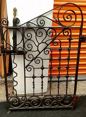DECORATIVE GARDEN GATE hand forged wrought iron