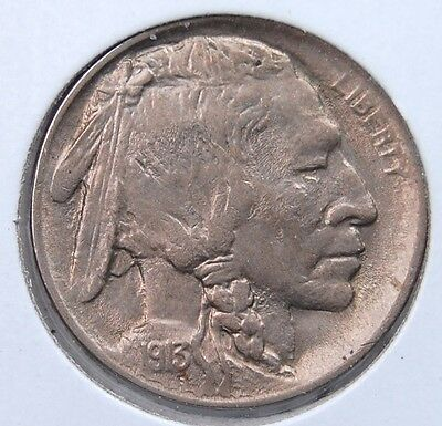 1913 P Type 1 Buffalo Nickel Choice Brilliant Uncirculated Pale Tone