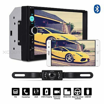 "7"" Bluetooth Touch Screen 2DIN Car Stereo Radio MP5 MP3 Player TF Camera USB HD"