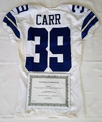 ... cheapest new england patriots game worn away jersey with team stamping  39 brandon carr authentic game 167daa587