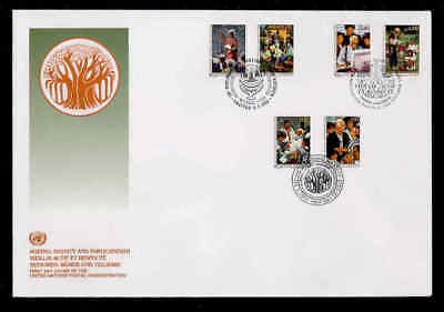 Courier Fdc - 1993 Ageing With Dignity, Unpa Cachet
