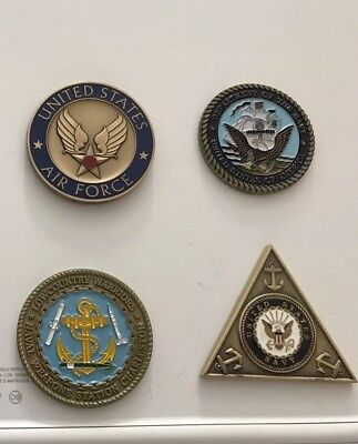 6 Coins Challenge Coin lot set Collection Military NO DUPLICATES