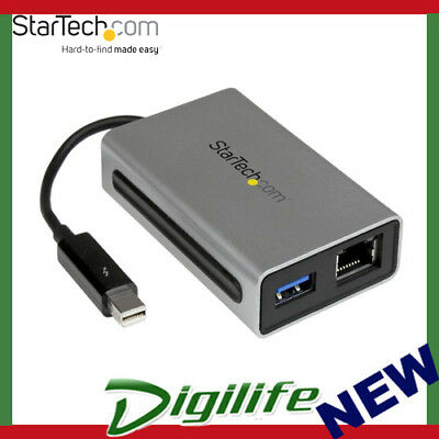 STARTECH Thunderbolt to Gigabit Ethernet plus USB 3.0 - Thunderbolt Adapter