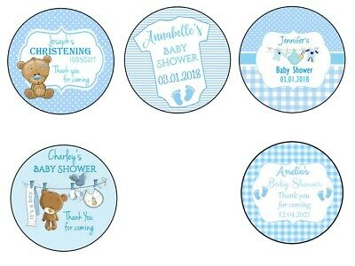 Personalised Baby Shower Stickers Label For Party Bag Thank You For Coming GLOSS