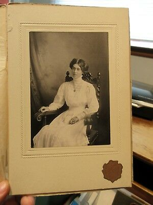 Vintage Old Antique Cabinet Photo Picture Jamestown New York CLELAND SNOW Named