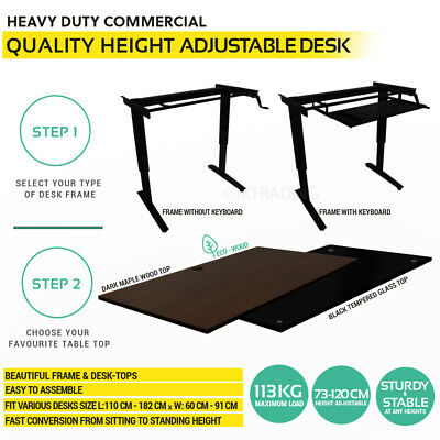 Height Adjustable Standing Desk Stand Up Office Desk -SELECT YOUR COMPONENTS!