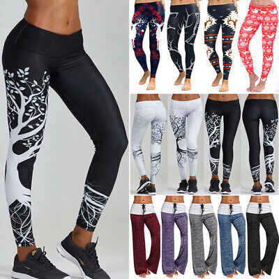 54b84b25ed Womens Workout Leggings Yoga Gym Jogging Push Up Fit Sports Athletic Pants  M397