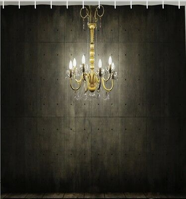 Hanging Chandelier Lights Vintage Fabric SHOWER CURTAIN Victorian Wall Decor