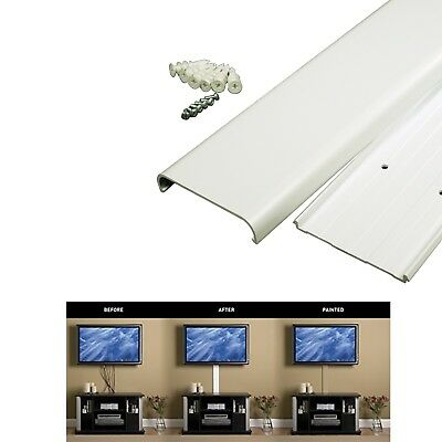 FLAT SCREEN TV Cord Cover Kit Organizer Sleeve Cable Wire Hide Wall ...
