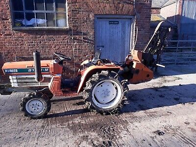 compact tractor hire trencher/ rotavator