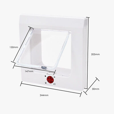 4 Way Medium Small Pet Cat Puppy Dog Door Flap Locking Lockable Safe Gate