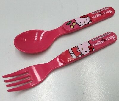 Hello Kitty Kids Plastic Spoon & Fork Cutlery Set . Zak Designs