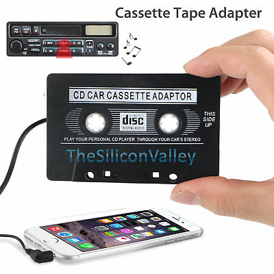 3.5mm AUX Car Audio Cassette Tape Adapter Converter for MP3 IPod CD MD iPhone