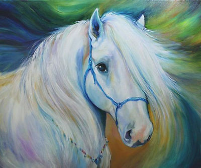 CHENPAT281 large beautiful horse 100% hand-painted art oil painting on  canvas