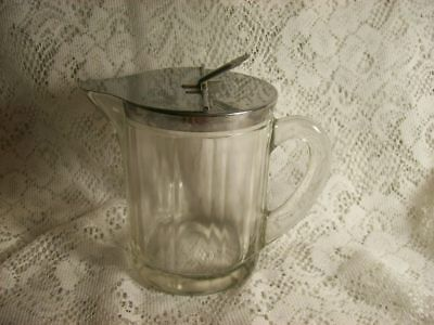 Vintage McKee Depression Glass Clear Large Syrup Pitcher 1951