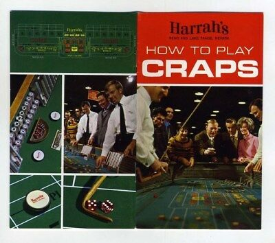 HARRAH's How To Play Craps 1969 Booklet Reno Lake Tahoe Nevada