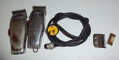 2(two) Vintage Clippers ANDIS Senior & Master Model AS & M - Working - READ DESC