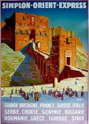 Simplon-Orient Express Train Poster 2nd Printing 1989