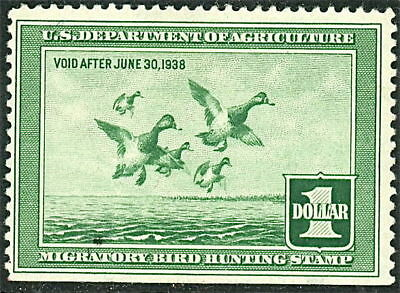 RW4 1937 Federal Duck Stamp F-VF Unsigned No Gum-No Fault or Hinge- Ex- SE