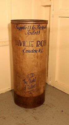 A Large Painted Fabric Roll Stand Gentlemans Tailor Shop Display