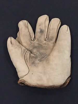 Early 1900s White Victor Full Web Vintage, Antique Baseball Glove