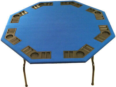 52 octagon green felt poker table w folding steel legs texas 52 octagon blue felt poker table folding steel legs for texas holdem card games watchthetrailerfo
