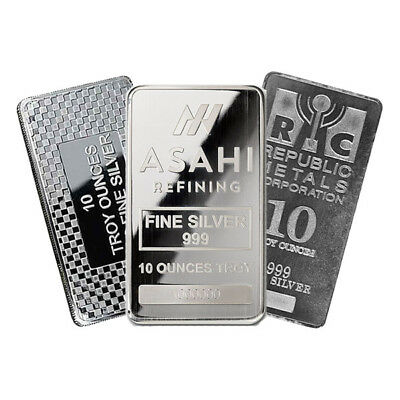 10 oz Silver Bar - Cast or Minted Bar - Our Choice Mint
