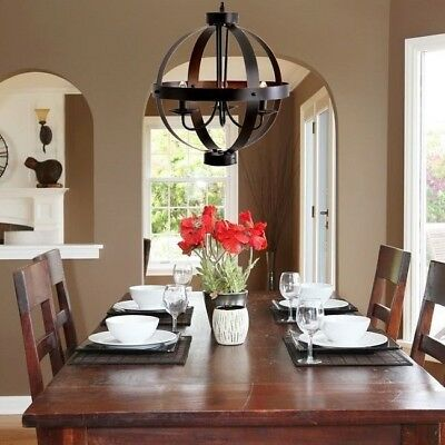 Entryway Light Farmhouse Pendant Rustic Hanging Eclectic Chandelier Dining Room