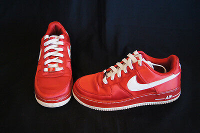 Nike Air Force 1 girls size 4Y varsity red/white 314219-611